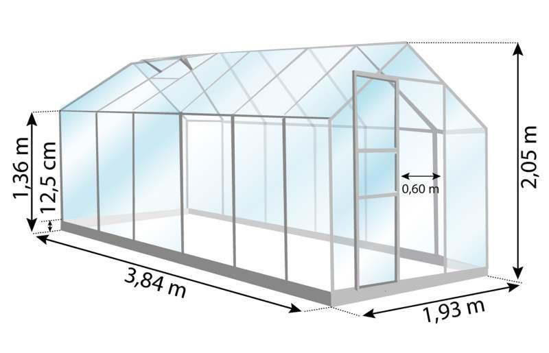 Serre de jardin, Venus 7500, dimensions-Anima-Jardin.fr