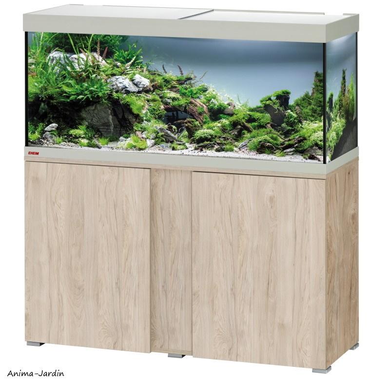 Aquarium Vivaline LED 240 avec meuble-kit complet-éclairage-filtre-chauffage-Eheim-Anima-Jardin.fr