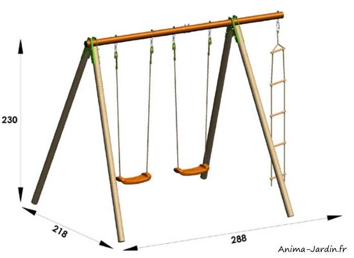 Portique-métal/bois-Xylo-dimensions-Anima-Jardin.fr