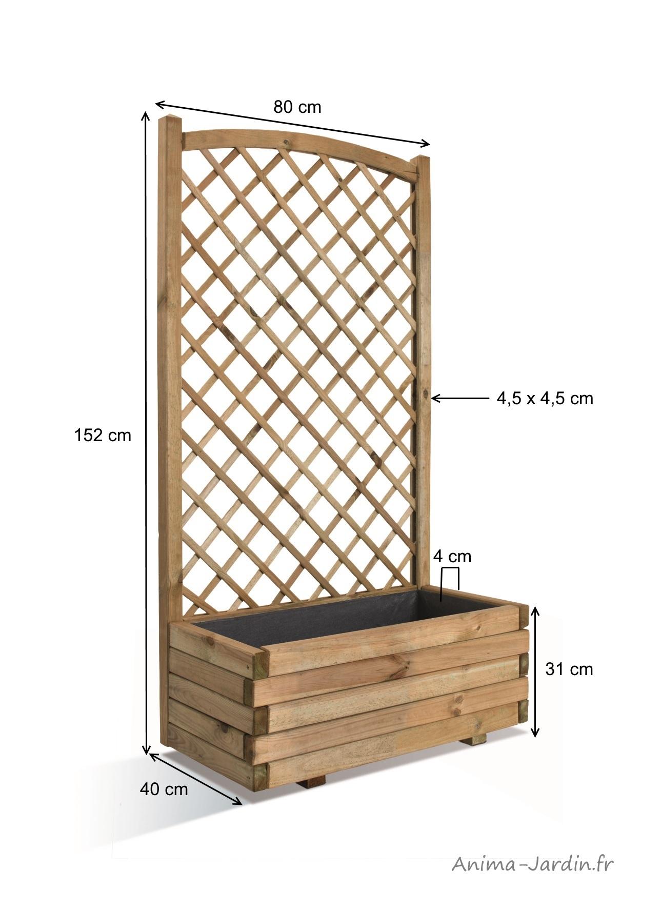 Fabriquer Treillis Bois Pour Plantes Grimpantes bac lierre, 80 cm, treillis, arc, bois autoclave, bac à
