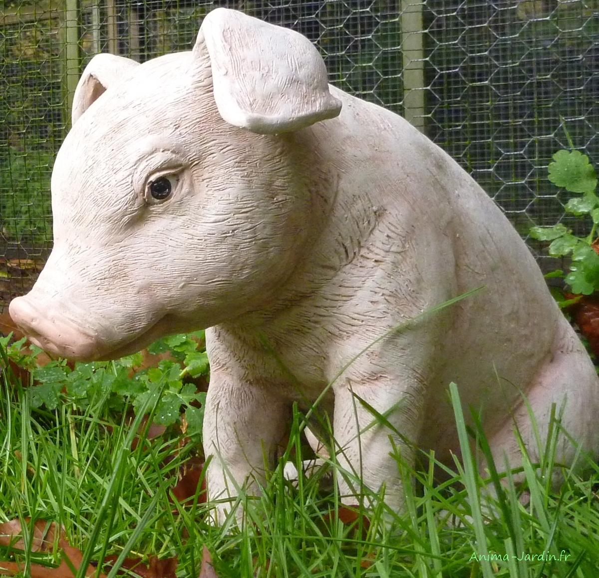 cochon-assis-37cm-en-résine-anima-jardin