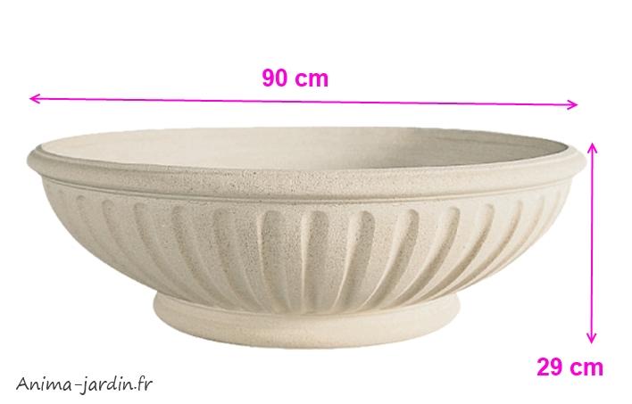Vasque renaissance 90 cm, pierre reconstituée, coupe basse, achat