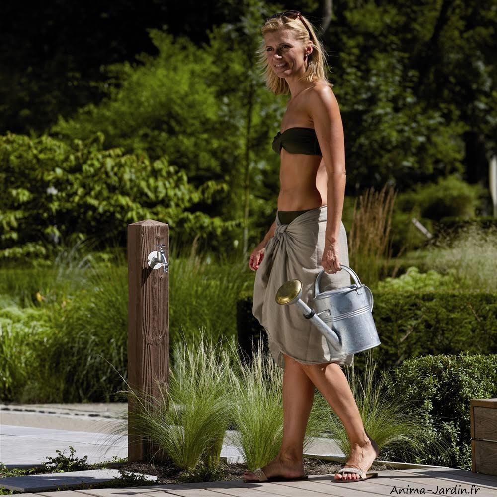 Fontaine imitation bois-Graf-point d'eau-fontaine de jardin-Anima-Jardin.fr