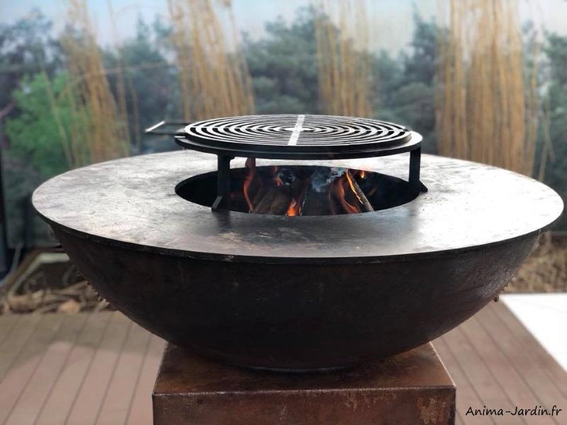 Grill pour braséro Quoco-cuisine extérieure-barbecue-Fargau-achat-pas cher-Anima-Jardin.fr