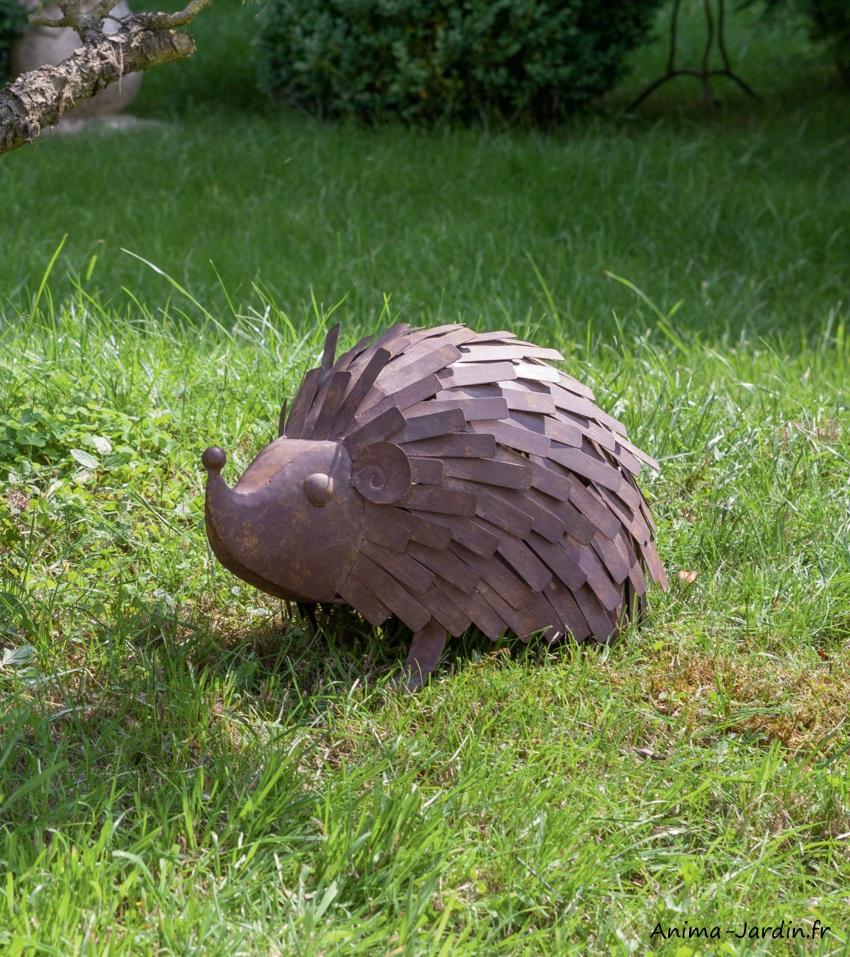 Hérisson-animal décoratif en métal-Picpic-extérieur-Nortene-Anima-Jardin.fr