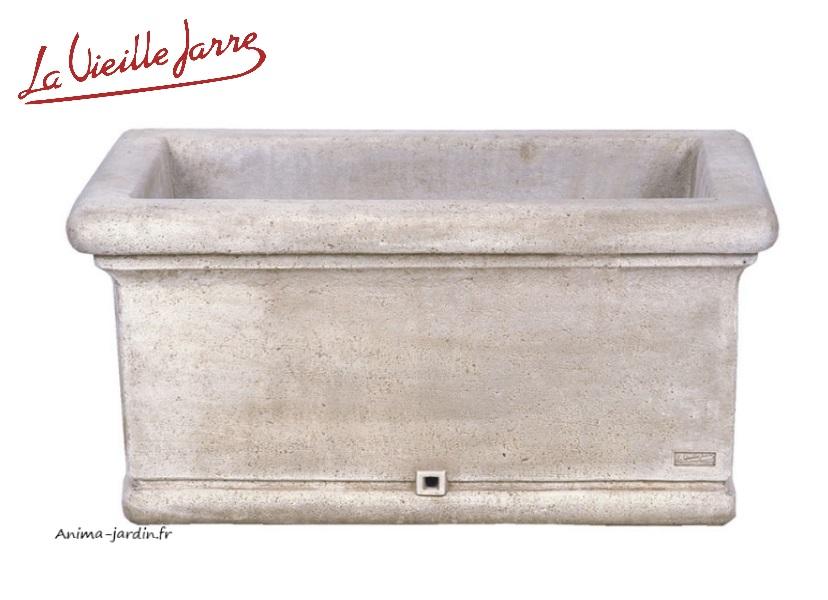Jardinière lisse-Patiné vieilli-La Vieille Jarre-Anima-Jardin.fr