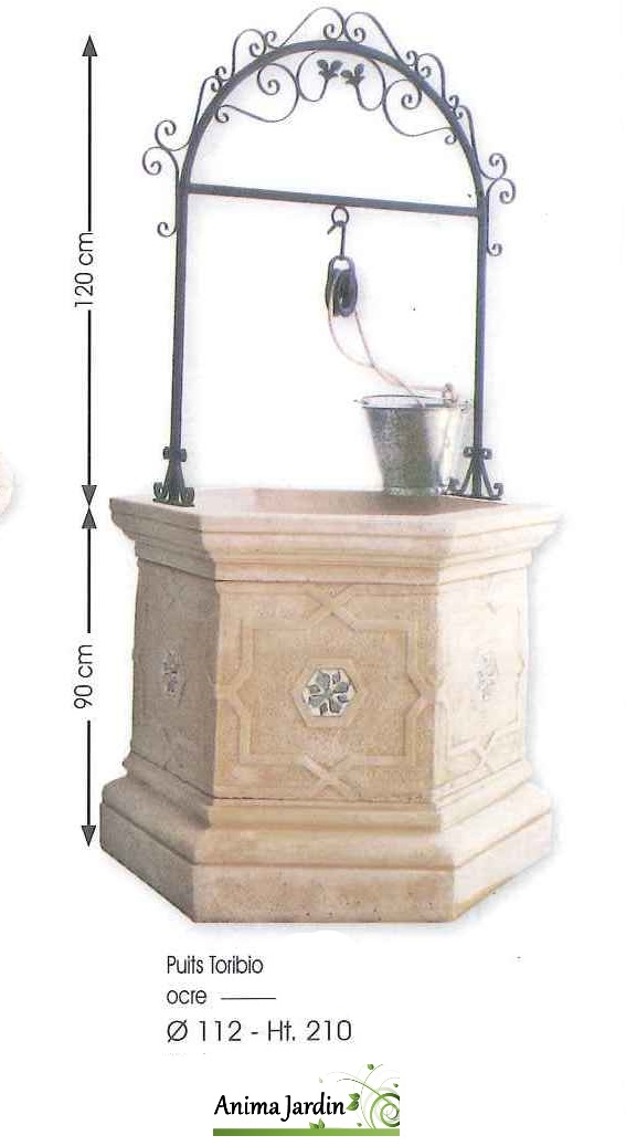 Puits en pierre reconstitu e vieilli framusa puits de - Puit en pierre ...