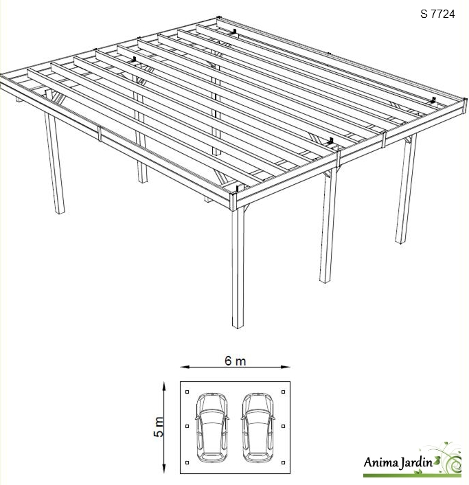 carport-bois-traité-autoclave-S7724-2-voitures-anima-jardin