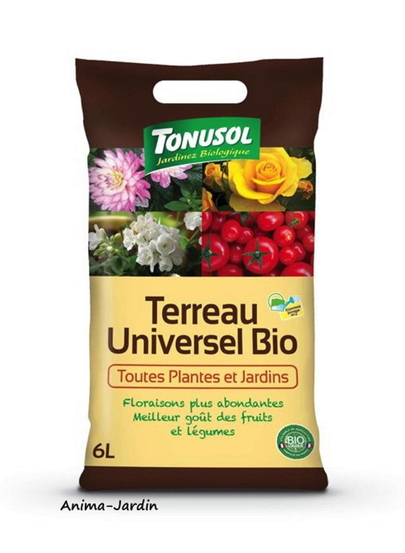 Terreau Universel Bio, sac de 6L, toutes plantes et jardins, jardinage, potager, achat