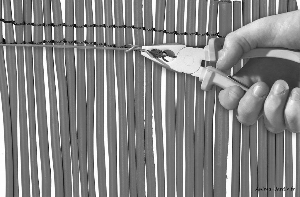 Paquet de 200 liens-Twister fix-fils de fer-brise-vue-grillage-Nortène-Anima-Jardin.fr