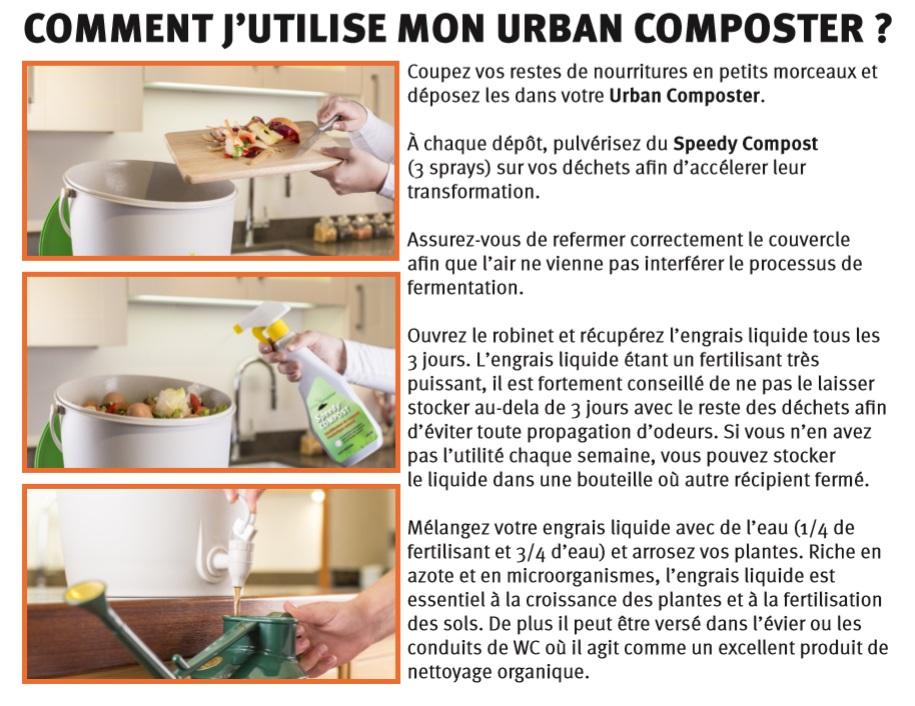 guide Utilisation-urban composter-composteur de cuisine-moderne-Graf-Anima-Jardin.fr